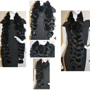 New Genuine Fur Versatile Pom-Pom Scarf Wrap